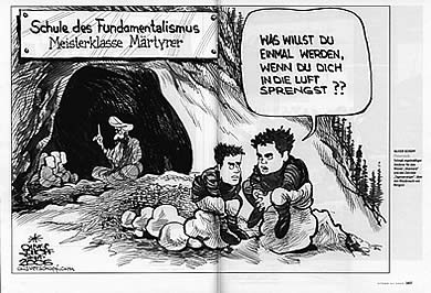 Oliver Schopf, editorial cartoons printed in the german magazine stern dezember 2006