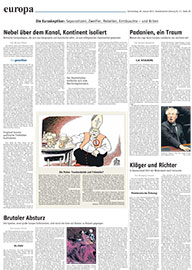 Süddeutsche Zeitung released the cartoon by Austrian cartoonist Oliver Schopf.