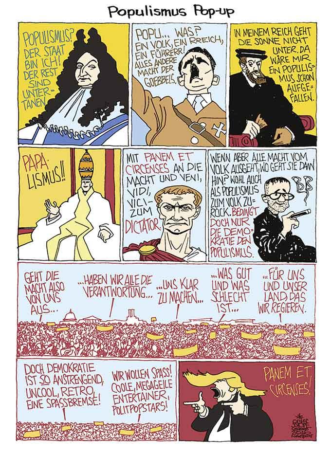 Oliver Schopf Politische Karikatur Von Populisten Und Demagogen