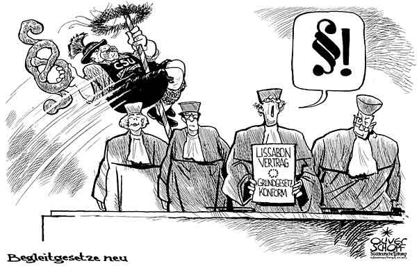 Oliver Schopf Politische Karikatur Deutschland 2009 Begleitgesetz Neu