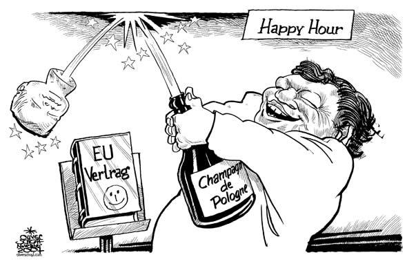 Oliver Schopf Politische Karikatur 2007 Der Vertrag Von Lissabon