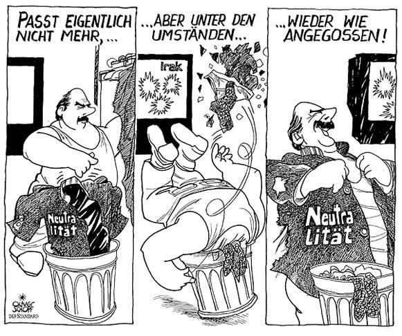 Oliver Schopf Politische Karikatur österreich Neutralität Und Der
