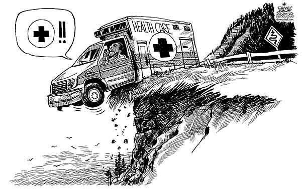 oliver schopf politische karikatur usa   rettung der