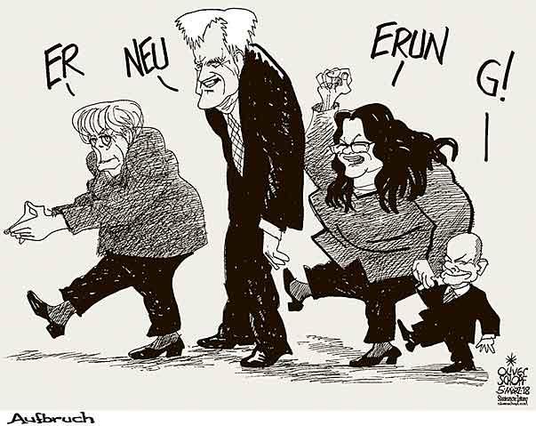 Bildergebnis für nahles groko karikatur