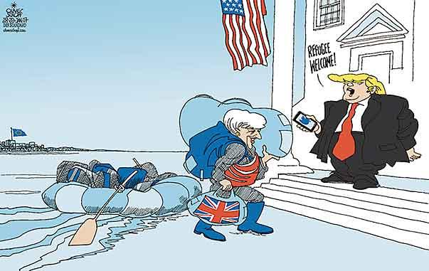 Oliver Schopf politische Karikaturen: Theresa May zu ...