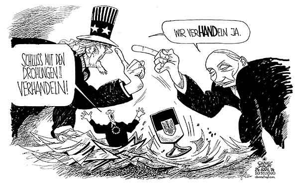 Oliver Schopf, politischer Karikaturist aus Österreich, politische ...: http://www.oliverschopf.com/html/d_polkar/einzel_e/ukraine_verhandlungen.html