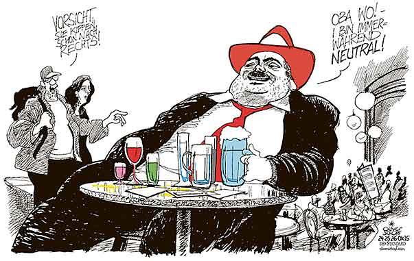 Oliver Schopf Politische Karikatur österreich 60 Jahrestag Der