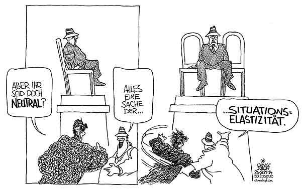 Oliver Schopf Politische Karikatur österreich über Sein Und