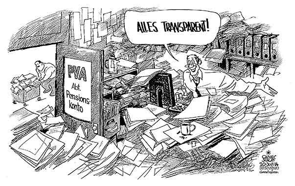 Oliver Schopf Politische Karikatur Osterreich Pva Konto 2014