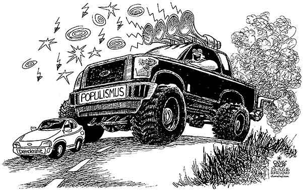 Populismus Karikatur